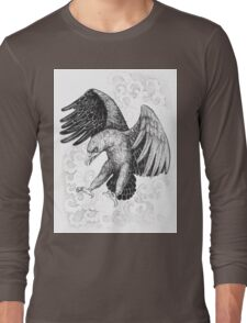 Flying, attacking eagle Long Sleeve T-Shirt