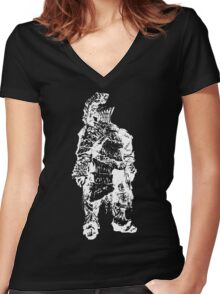 The Rock Women's Fitted V-Neck T-Shirt
