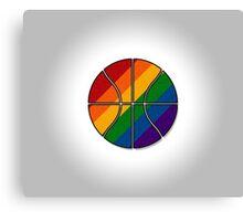 Rainbow Basketball Canvas Print