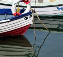 Small Skiffs - Lyme Regis Harbour Sticker