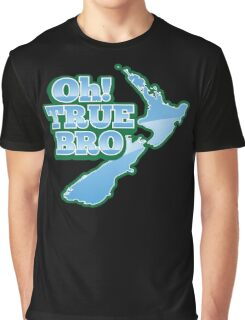 Oh TRUE BRO! with New Zealand MAP Graphic T-Shirt