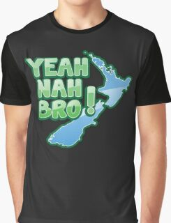 YEAH NAH BRO! with New Zealand MAP Graphic T-Shirt
