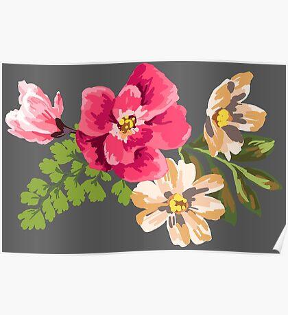 Vintage Flower Poster