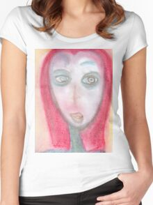 Portrait of a Curious Traveler Women's Fitted Scoop T-Shirt