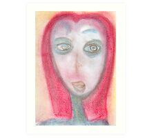 Portrait of a Curious Traveler Art Print