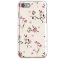 Scattered Floral on Cream iPhone Case/Skin