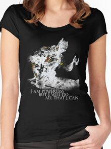 All i can - White Women's Fitted Scoop T-Shirt