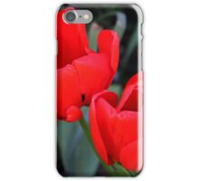 Twin Red Tulips iPhone Case/Skin