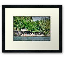 The Mauritius Collection - Lux Grand Gaube Main Beach (2) Framed Print