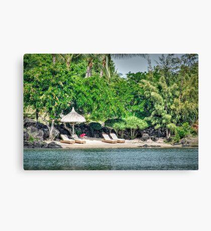 The Mauritius Collection - Lux Grand Gaube Main Beach (2) Canvas Print
