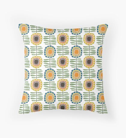 MCM Sunflowers Throw Pillow