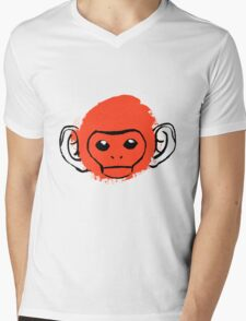 Monkey Mens V-Neck T-Shirt