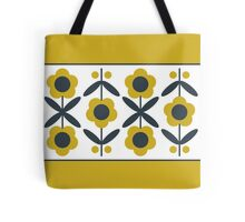 Retro Flower (Mustard) Tote Bag