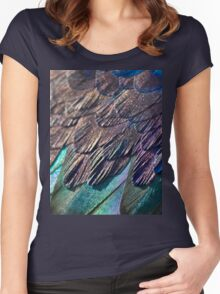 Feather Focus Women's Fitted Scoop T-Shirt