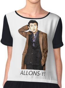 Doctor Who - Allons-y! - 10th Doctor Chiffon Top