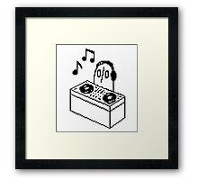 Napstablook DJ Pixel Arts Framed Print