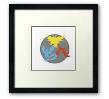 Articuno, Zapdos and Moltres Silhouettes Framed Print