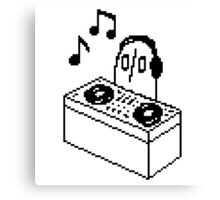Napstablook DJ Pixel Arts Canvas Print