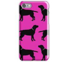 Black Labrador - Hot Pink iPhone Case/Skin