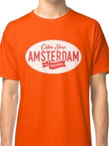 Coffee Shop Amsterdam Logo Classic T-Shirt