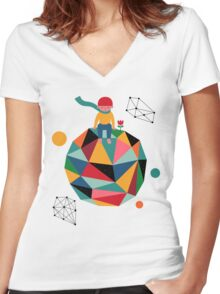 Lonely planet Women's Fitted V-Neck T-Shirt
