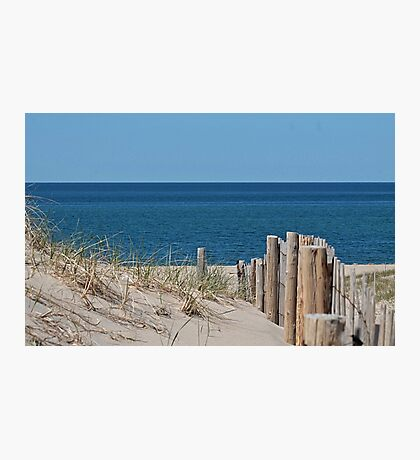Sandy beach and deep blue sea Photographic Print