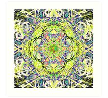 Juicy Liquid Paint Mandala Nineteen Art Print