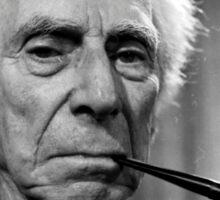 Bertrand Russell Pipe Sticker