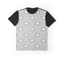 Undertale Annoying Dog - Grey Graphic T-Shirt