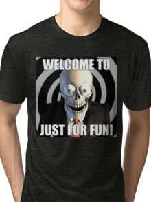 JUST FOR FUN SKULL Tri-blend T-Shirt