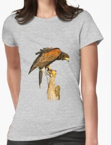 Harris Hawk on watch Womens Fitted T-Shirt