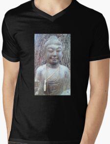 stone buddha statue Mens V-Neck T-Shirt