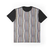 Blue, White, Brown Graphic T-Shirt