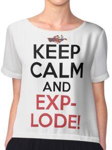 Keep Calm And Explode! Anime Shirt Chiffon Top