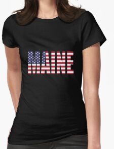 Maine Womens Fitted T-Shirt