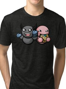 The Binding Of Isaac Afterbirth - Dark Bum and Bum Friend Tri-blend T-Shirt