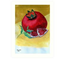 A ripe pomegranate Art Print
