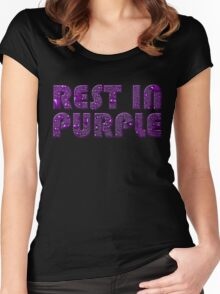 rest in purple Women's Fitted Scoop T-Shirt