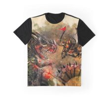 Manstodon versus the Swamp Tyrant Graphic T-Shirt