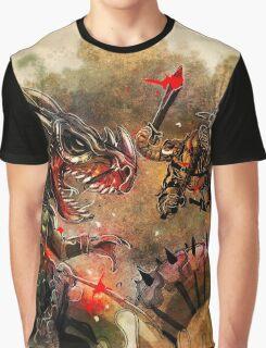 Manstodon versus the Swamp Tyrant Graphic T-Shirt