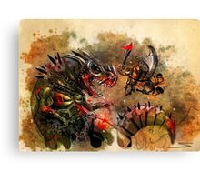 Manstodon versus the Swamp Tyrant Canvas Print