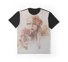 """Claudia"" Oil on Canvas Graphic T-Shirt"