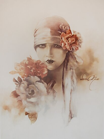 """""""Claudia"""" Oil on Canvas by Sara Moon"""
