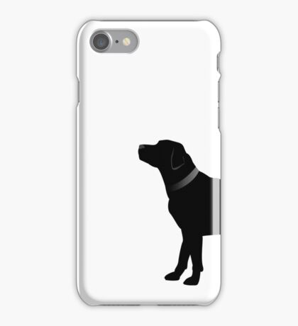 Single Black Labrador Black Collar iPhone Case/Skin