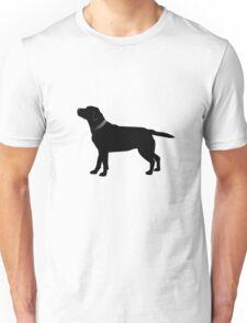 Single Black Labrador Black Collar Unisex T-Shirt