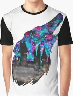 Double Exposure Harry Potter Werewolf Hogwarts Silhouette Graphic T-Shirt