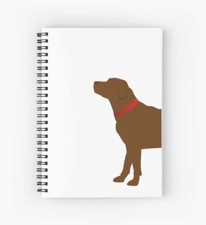 Chocolate Labrador Red Collar Spiral Notebook
