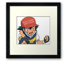 Ash Ketchum - Make America Great Again Framed Print