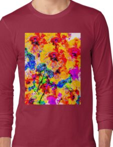 Hibiscus Impressionist Series Long Sleeve T-Shirt