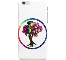 Hippie Peace Tree in Psychedelic Circle iPhone Case/Skin